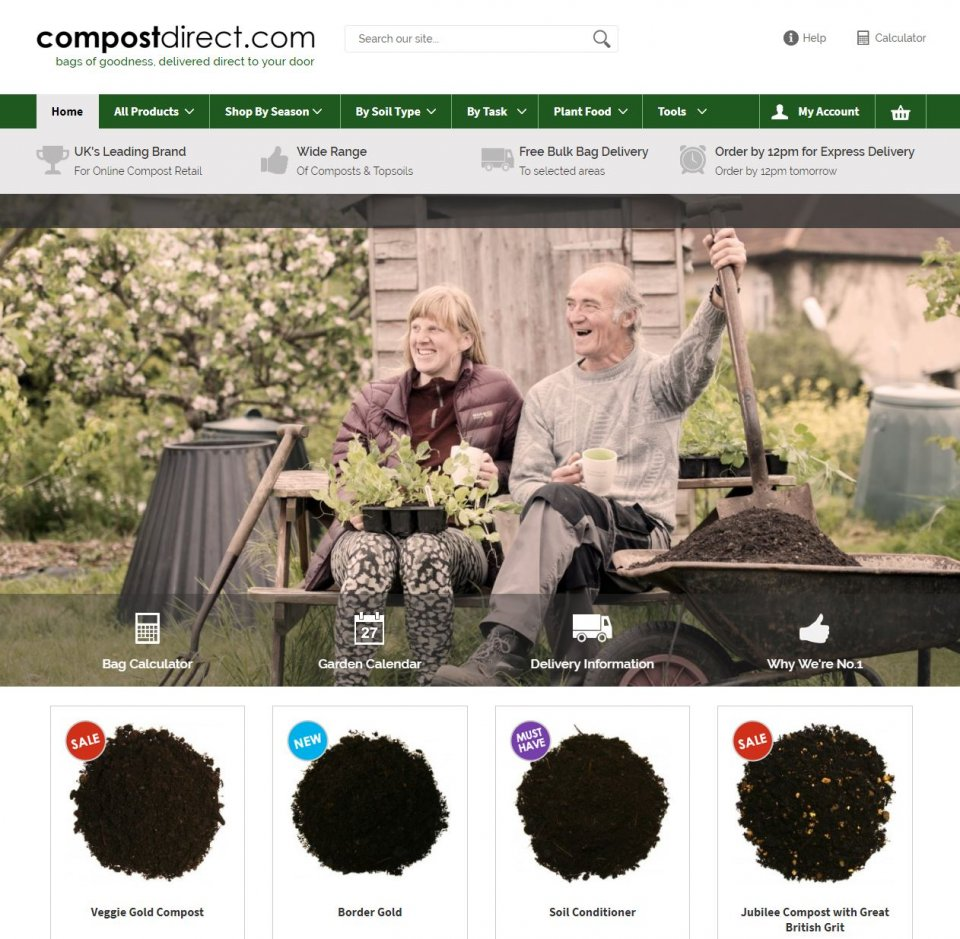 Compost Direct Home page