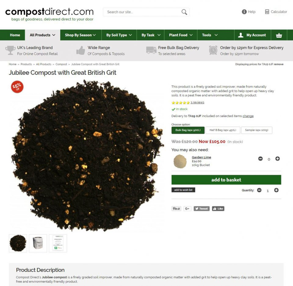 Compost Direct Product page