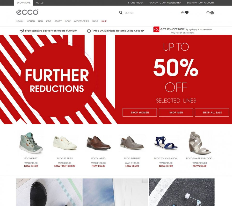 ECCO Shoes Home Page