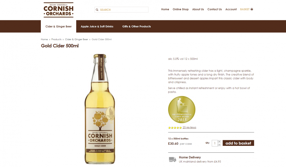 Cornish Orchards Product Page