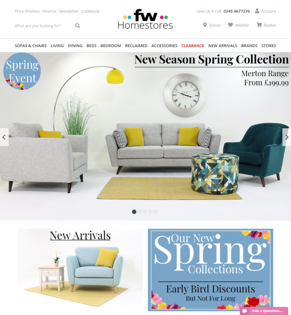 FW Homestores Home Page
