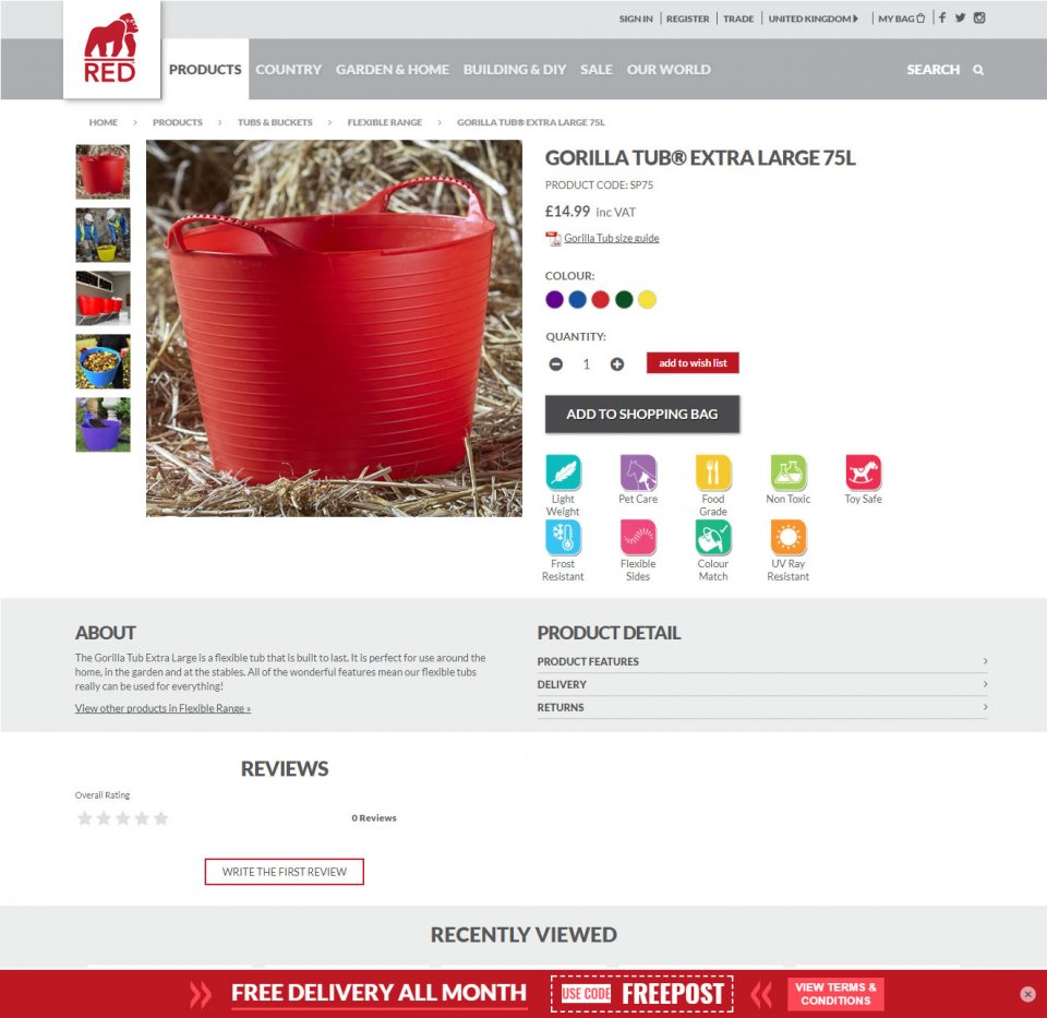 Red Gorilla Product Page