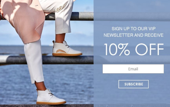Newsletter sign up discount popup