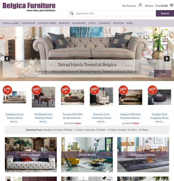 Belgica Furniture - Home page