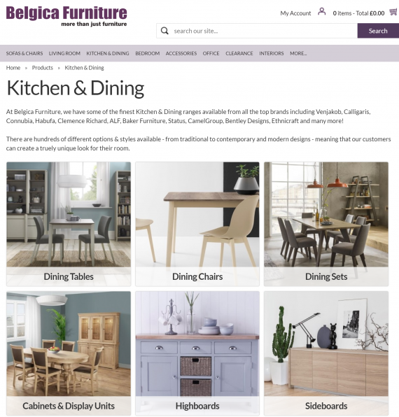 Belgica Furniture - Range